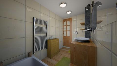 kupelnicka nad vanou - Bathroom  - by Sojkaaa