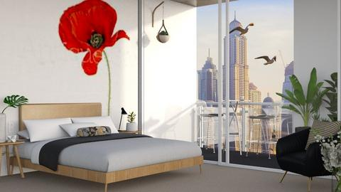 poppy bedroom - Bedroom  - by its_eima