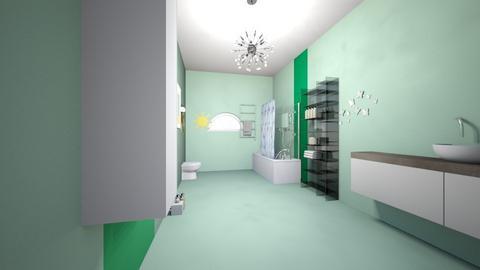 Kalishas GuestBath2 - Glamour - Bathroom  - by lulu2x