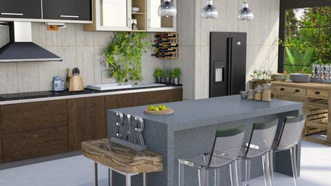 Jungle Jumble - Modern - Kitchen  - by Gurns