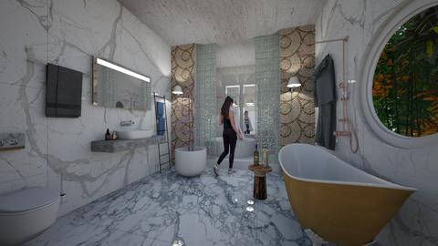 Marble_DeLuxe_Bath_Creation_ - Modern - Bathroom - by Nikos Tsokos