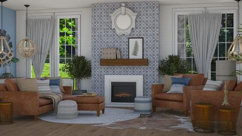 Living - Rustic - Living room  - by NEVERQUITDESIGNIT