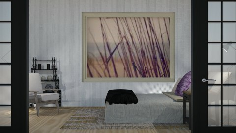 Purple Accent - Minimal - Bedroom  - by millerfam
