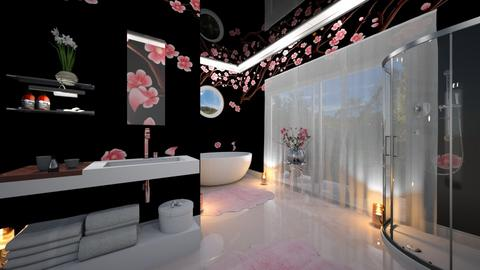 Cherry Blossom Bathroom - Bathroom  - by yonvie