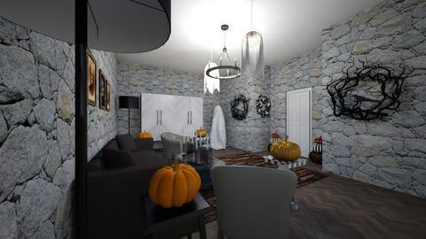 Halloween living room - Living room  - by xSphinxx