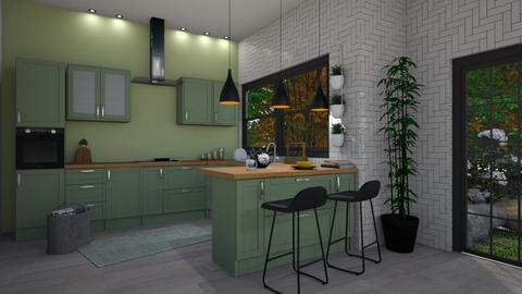 eclectic kitchen - Kitchen - by sillvie