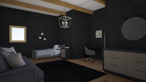 Black teenage room 2 - Bedroom  - by KathyScott