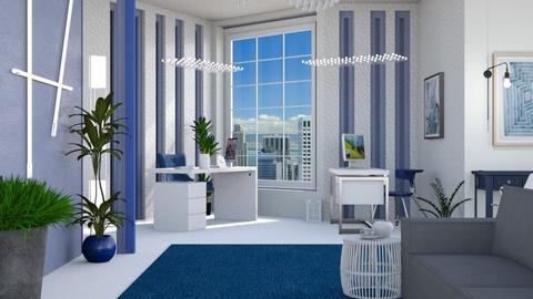 M_ Blue office - Modern - Office  - by milyca8