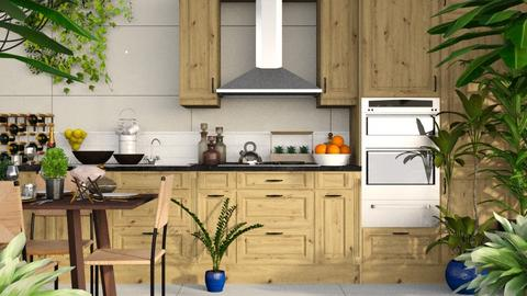 Urban Jungle Kitchen - Rustic - Kitchen  - by millerfam