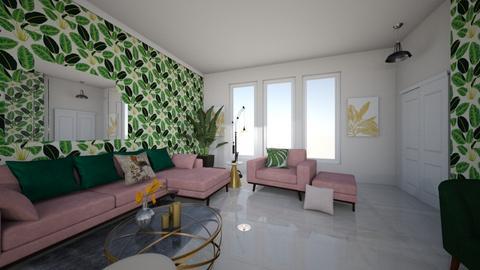 Pink Tropics - Living room  - by GeorgiaElle