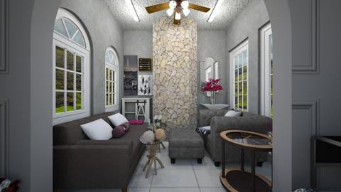 Gloom and Bloom View 1 - Classic - Living room  - by Avril55