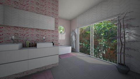 Cherry Blossom Bathroom - Bathroom  - by IteriorsPuma