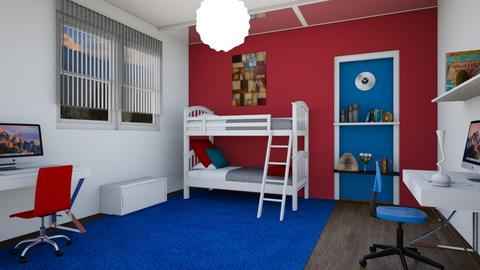 bunk bedroom - Modern - Bedroom  - by zayneb_17