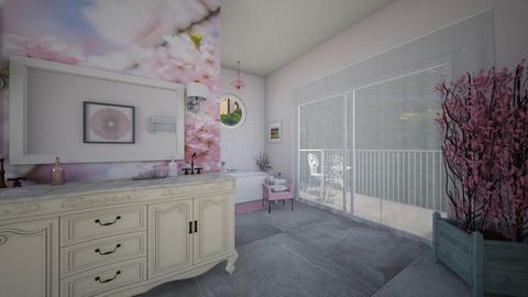 Cherry Blossom Bathroom - Bathroom  - by fippydude