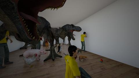 tyrexroom - Kids room - by Geertje Verhellen