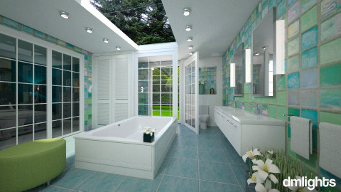 See Thru Shower - Bathroom  - by Lackew