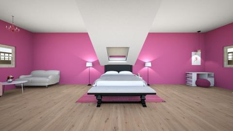 Pink bedroom - Vintage - Bedroom  - by LeoTheLop
