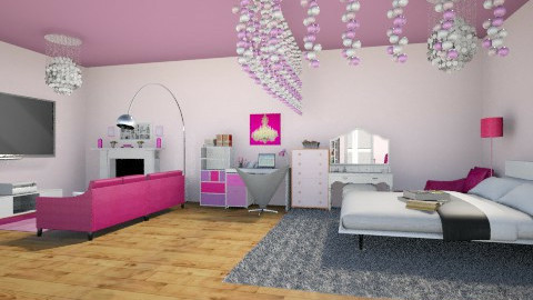 room2 - Feminine - Bedroom - by mariareyna