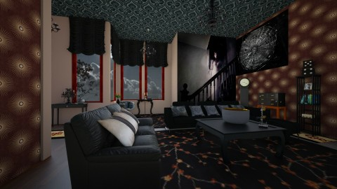 Design A Haunted House 2 - Living room - by Suzanne Hoskins