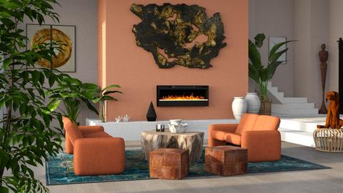 Clayhill - Living room  - by LillMiaaa