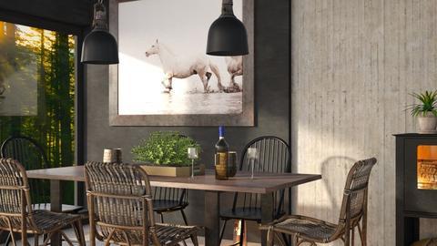 Scandinavian dining room - Dining room  - by Sirtzuu93