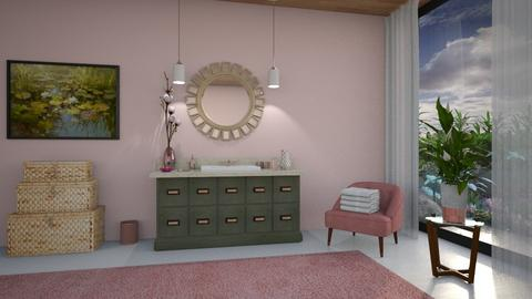 Marta's Lily Pond - Feminine - Bathroom  - by Claudia Correia
