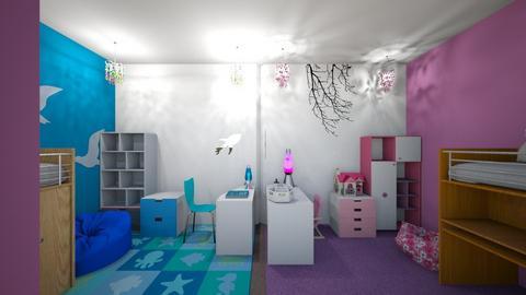 half and half  - Kids room - by martinini
