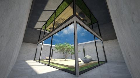 Zen Plant Reflection - by luna smith