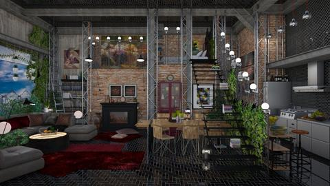 my industrial home  - Eclectic - Living room  - by Ida Dzanovic