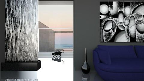 Black glamour 2 - Living room - by Alina Varzaru