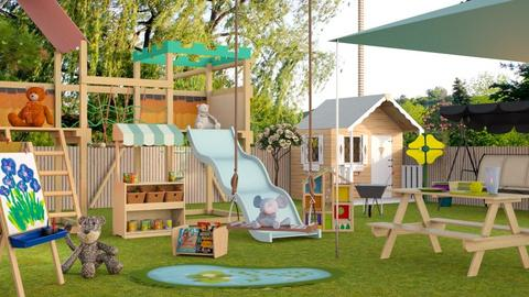Outdoor Daycare - Garden  - by Sally Simpson