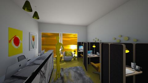 yellow office 2 - Modern - Office  - by Irishrose58