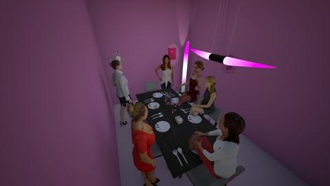 girl dinner - Glamour - Dining room - by sanaria rashad