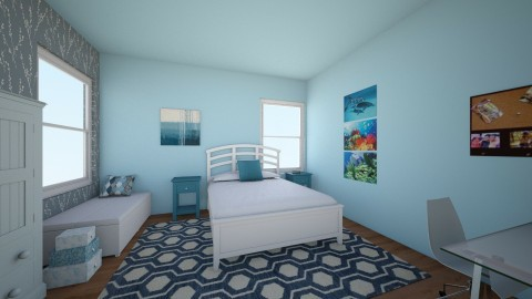 Blue - Bedroom  - by interiordesignmajor013