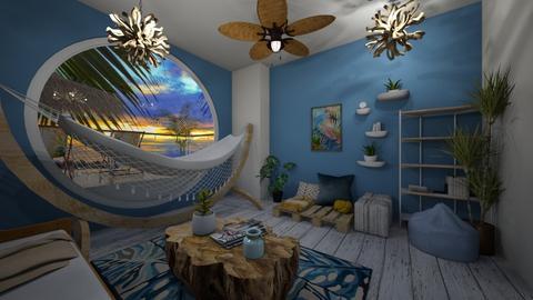 Beach Hut - Living room  - by ckwoodcook23