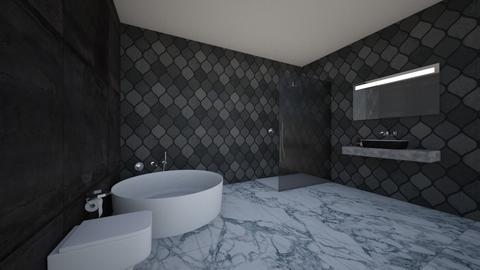 dark bathroom - Classic - Bathroom  - by IJH