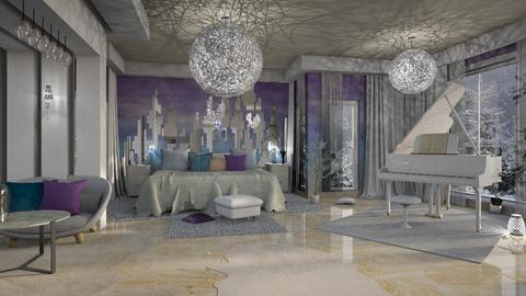 Winter Bedroom - by ZsuzsannaCs