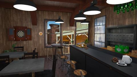 Western Saloon - Rustic - Kitchen - by AngieDrws
