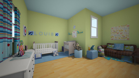 Louis Blue Nursery - Modern - Kids room  - by devonsia