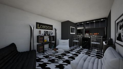 House Bar - Living room - by ElleP