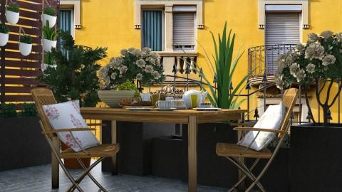 Breakfast On Balcony - Feminine - Garden  - by katarina_petakovi