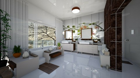 Bathroom7 - Modern - Bathroom  - by ZsuzsannaCs