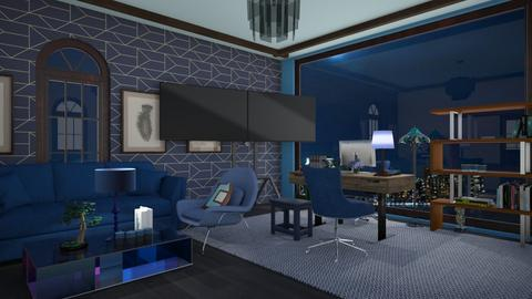 Blue layer office - Modern - Office  - by BlackOrchidea