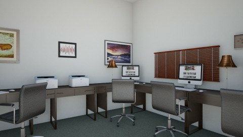 Business Center 3 Corner  - Rustic - Office  - by clevejohnson