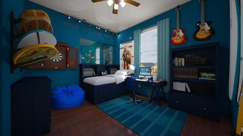 Bedroom With Fish Tank - Bedroom  - by SammyJPili