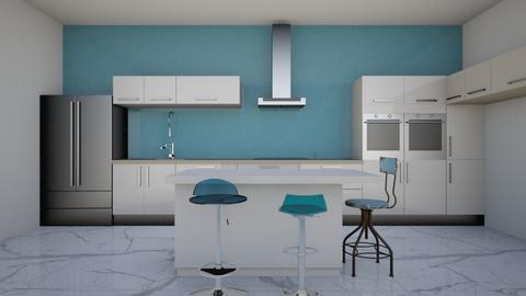 blue mood - Kitchen  - by rcrites457