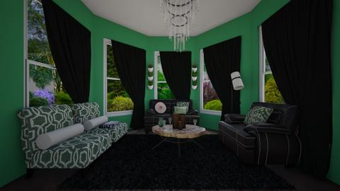 Green and black - Eclectic - Living room  - by 00l0ps