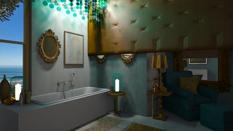 Turquoise gold bathroom - Bathroom - by ilikalle