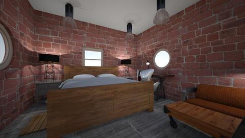 industrial bedroom - Rustic - Bedroom  - by Niftydream