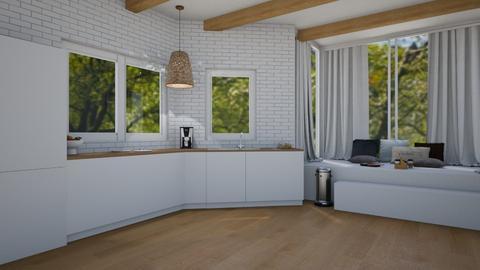 Kitchen with nook - Kitchen  - by KathyScott